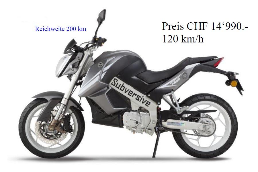 Elektromotorrad in grau und schwarz. Typ Nakedbike.