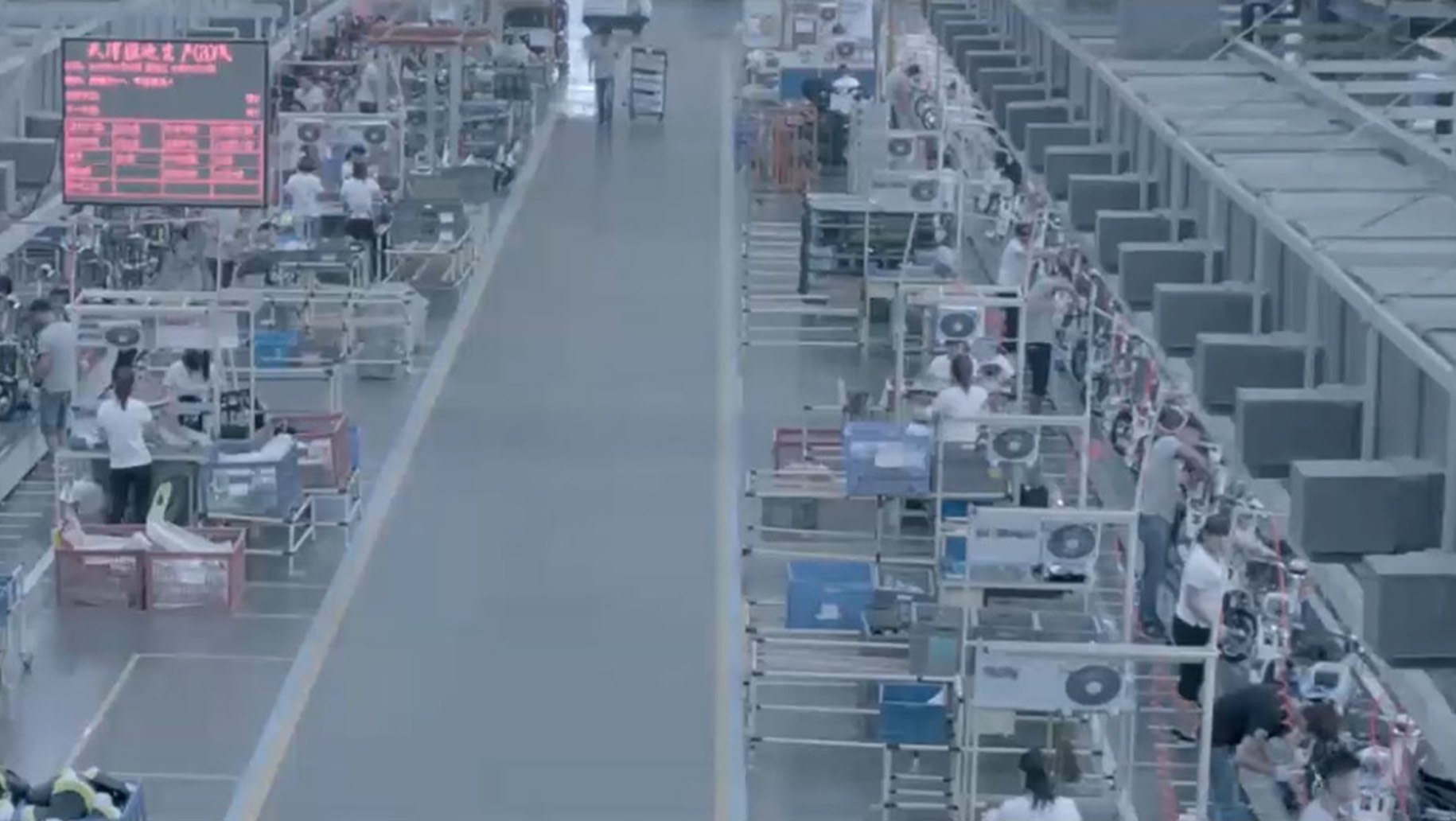 Attività di produzione in Cina.